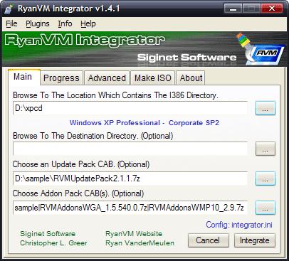 RyanVM's Windows XP post-SP2 update pack Integrator